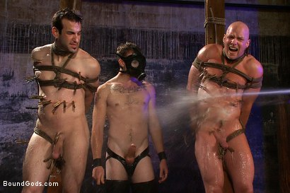 Photo number 10 from rock vs miller - Live Shoot shot for Bound Gods on Kink.com. Featuring Christian Wilde, Jason Miller, Chad Rock and Van Darkholme in hardcore BDSM & Fetish porn.