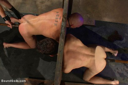 Photo number 11 from rock vs miller - Live Shoot shot for Bound Gods on Kink.com. Featuring Christian Wilde, Jason Miller, Chad Rock and Van Darkholme in hardcore BDSM & Fetish porn.