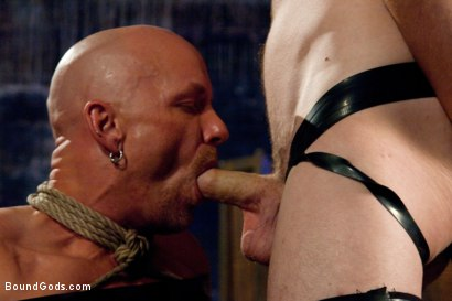 Photo number 6 from rock vs miller - Live Shoot shot for Bound Gods on Kink.com. Featuring Christian Wilde, Jason Miller, Chad Rock and Van Darkholme in hardcore BDSM & Fetish porn.