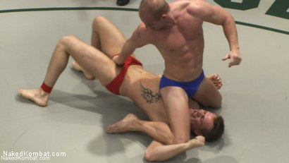 Photo number 1 from Trent Diesel vs Patrick Rouge - Round 1 <Br> Trent Diesel vs Alex Slater - Round 2 & 3 shot for Naked Kombat on Kink.com. Featuring Patrick Rouge, Trent Diesel and Alex Slater in hardcore BDSM & Fetish porn.