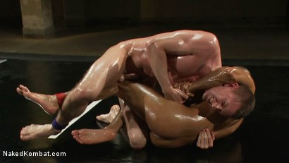Photo number 8 from Troy Daniels vs Sami Damo <br> The Oil Match shot for Naked Kombat on Kink.com. Featuring Troy Daniels and Sami Damo in hardcore BDSM & Fetish porn.