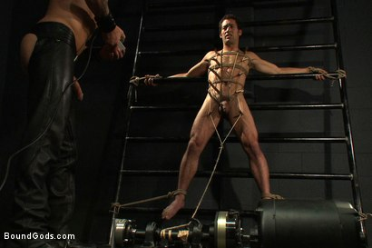 Photo number 8 from The Pipe Room shot for Bound Gods on Kink.com. Featuring Brenn Wyson, James Gates and DJ in hardcore BDSM & Fetish porn.