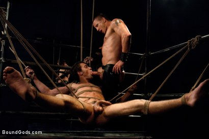 Photo number 12 from The Pipe Room shot for Bound Gods on Kink.com. Featuring Brenn Wyson, James Gates and DJ in hardcore BDSM & Fetish porn.