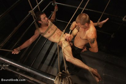 Photo number 14 from The Pipe Room shot for Bound Gods on Kink.com. Featuring Brenn Wyson, James Gates and DJ in hardcore BDSM & Fetish porn.