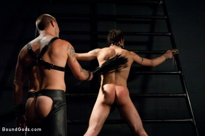 Photo number 7 from The Pipe Room shot for Bound Gods on Kink.com. Featuring Brenn Wyson, James Gates and DJ in hardcore BDSM & Fetish porn.