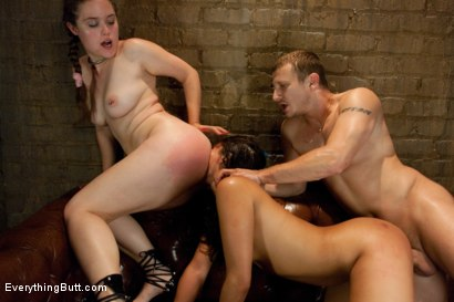 Photo number 8 from Crossing the Streams shot for Everything Butt on Kink.com. Featuring Mr. Pete, Miss Jade Indica and Charlotte Vale in hardcore BDSM & Fetish porn.