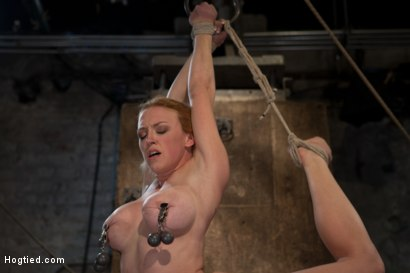 Photo number 13 from Part 1 of 4 of the<br> May Live show! shot for Hogtied on Kink.com. Featuring Isis Love and Dee Williams in hardcore BDSM & Fetish porn.