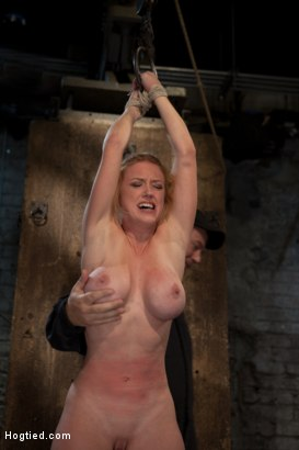 Photo number 3 from Part 1 of 4 of the<br> May Live show! shot for Hogtied on Kink.com. Featuring Isis Love and Dee Williams in hardcore BDSM & Fetish porn.