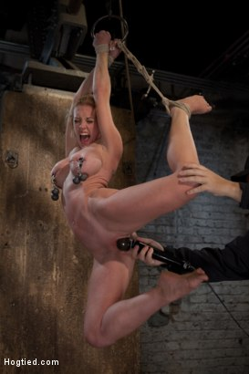 Photo number 10 from Part 1 of 4 of the<br> May Live show! shot for Hogtied on Kink.com. Featuring Isis Love and Dee Williams in hardcore BDSM & Fetish porn.