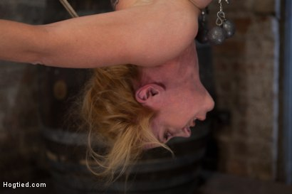 Photo number 9 from Darling suffers her second Category 5 tie<br>Brutal Nipple Torture<br>and a hard fucking from Isis. shot for Hogtied on Kink.com. Featuring Isis Love and Dee Williams in hardcore BDSM & Fetish porn.