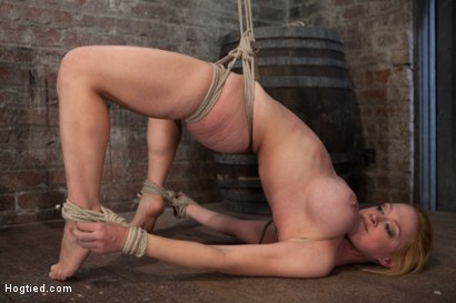 Photo number 2 from Darling suffers her second Category 5 tie<br>Brutal Nipple Torture<br>and a hard fucking from Isis. shot for Hogtied on Kink.com. Featuring Isis Love and Dee Williams in hardcore BDSM & Fetish porn.