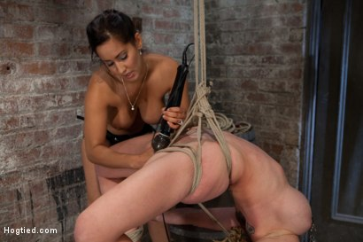 Photo number 12 from Darling suffers her second Category 5 tie<br>Brutal Nipple Torture<br>and a hard fucking from Isis. shot for Hogtied on Kink.com. Featuring Isis Love and Dee Williams in hardcore BDSM & Fetish porn.
