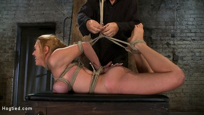 Photo number 6 from Darling Suffers her Third Category 5 Position<br>Brutally Fisted and Made to<br>Squirt and Cum!! shot for Hogtied on Kink.com. Featuring Isis Love and Dee Williams in hardcore BDSM & Fetish porn.