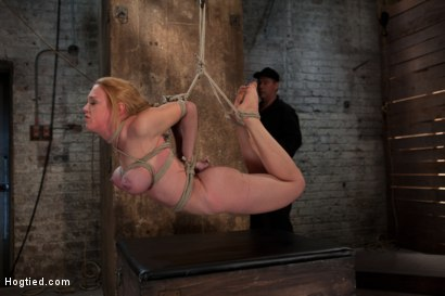 Photo number 10 from Darling Suffers her Third Category 5 Position<br>Brutally Fisted and Made to<br>Squirt and Cum!! shot for Hogtied on Kink.com. Featuring Isis Love and Dee Williams in hardcore BDSM & Fetish porn.
