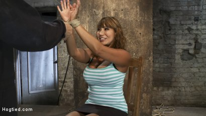 Photo number 1 from BIG TITTED MILF<BR> Tip toes and made to cum! shot for Hogtied on Kink.com. Featuring Ava Devine in hardcore BDSM & Fetish porn.