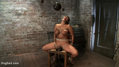 Photo number 9 from Classic Hogtied<br>Big Titted MILF in the chair<br>Orgasm after Orgasm no Mercy shot for Hogtied on Kink.com. Featuring Ava Devine in hardcore BDSM & Fetish porn.