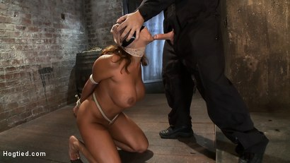 Photo number 7 from Amazingly hot MILF with huge tits and perfect ass  Tightly bound and sucking cock. shot for Hogtied on Kink.com. Featuring Ava Devine in hardcore BDSM & Fetish porn.