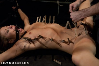 Photo number 13 from New Addiction shot for Sex And Submission on Kink.com. Featuring James Deen and Cali Lakai in hardcore BDSM & Fetish porn.