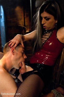 Photo number 4 from Play things  shot for TS Seduction on Kink.com. Featuring Aly Sinclair and John Jammen in hardcore BDSM & Fetish porn.