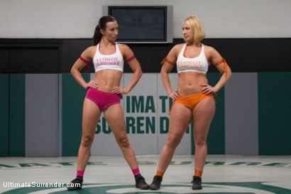 Photo number 2 from SUMMER VENGEANCE ROUND 2 ACTION <br> Ranked 6TH VS 11TH shot for Ultimate Surrender on Kink.com. Featuring Wenona and Mellanie Monroe in hardcore BDSM & Fetish porn.