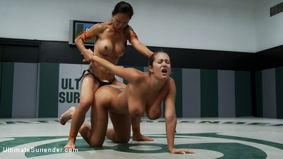 Photo number 15 from SUMMER VENGEANCE ROUND 2 ACTION<br> Ranked 8TH VS 16TH shot for Ultimate Surrender on Kink.com. Featuring Trina Michaels and Tia Ling in hardcore BDSM & Fetish porn.