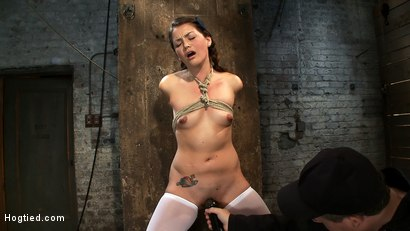 Photo number 13 from Thigh Highs and Cotton Panties<br>We're going to Hell shot for Hogtied on Kink.com. Featuring Allie Haze in hardcore BDSM & Fetish porn.