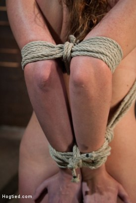 Photo number 3 from Thigh Highs and Cotton Panties<br>We're going to Hell shot for Hogtied on Kink.com. Featuring Allie Haze in hardcore BDSM & Fetish porn.