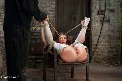 Photo number 8 from Our Little Pig Tailed Cutey is Tied Like a Slut<br> Caned and Finger Fucked Till she Squirts!  shot for Hogtied on Kink.com. Featuring Allie Haze in hardcore BDSM & Fetish porn.