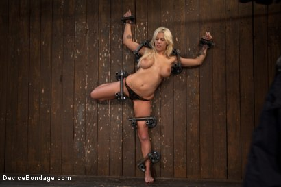 Photo number 4 from Big Swinging Boobs!<br>Big shot for Device Bondage on Kink.com. Featuring Lylith Lavey in hardcore BDSM & Fetish porn.