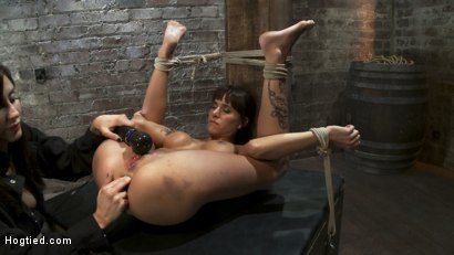 Photo number 12 from Squirt Fest 2010<br>Like a Fucking Fountain! shot for Hogtied on Kink.com. Featuring Gia DiMarco in hardcore BDSM & Fetish porn.