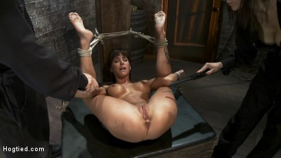 Photo number 3 from Squirt Fest 2010<br>Like a Fucking Fountain! shot for Hogtied on Kink.com. Featuring Gia DiMarco in hardcore BDSM & Fetish porn.