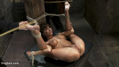 Photo number 5 from Squirt Fest 2010<br>Like a Fucking Fountain! shot for Hogtied on Kink.com. Featuring Gia DiMarco in hardcore BDSM & Fetish porn.