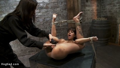 Photo number 8 from Squirt Fest 2010<br>Like a Fucking Fountain! shot for Hogtied on Kink.com. Featuring Gia DiMarco in hardcore BDSM & Fetish porn.