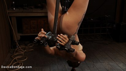 Photo number 8 from Q: Why does it make us so hard to see a girl hanging upside down? shot for Device Bondage on Kink.com. Featuring Jynx Maze in hardcore BDSM & Fetish porn.