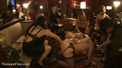 Photo number 2 from Topless Tapas shot for The Upper Floor on Kink.com. Featuring Cherry Torn, Bella Rossi, Gia DiMarco, Jessie Cox and Sarah Shevon in hardcore BDSM & Fetish porn.