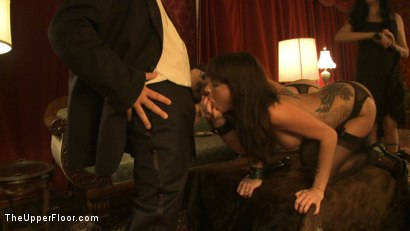 Photo number 6 from Topless Tapas shot for The Upper Floor on Kink.com. Featuring Cherry Torn, Bella Rossi, Gia DiMarco, Jessie Cox and Sarah Shevon in hardcore BDSM & Fetish porn.