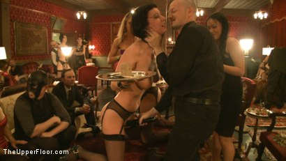 Photo number 11 from Topless Tapas shot for The Upper Floor on Kink.com. Featuring Cherry Torn, Bella Rossi, Gia DiMarco, Jessie Cox and Sarah Shevon in hardcore BDSM & Fetish porn.