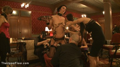 Photo number 10 from Topless Tapas shot for The Upper Floor on Kink.com. Featuring Cherry Torn, Bella Rossi, Gia DiMarco, Jessie Cox and Sarah Shevon in hardcore BDSM & Fetish porn.