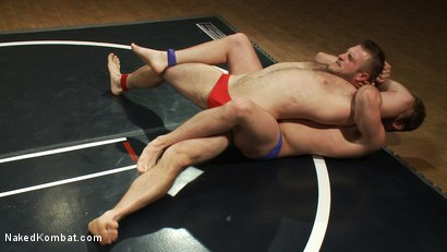 Photo number 2 from Muscled hunks duke it out in the gym, loser takes it in the ass! shot for Naked Kombat on Kink.com. Featuring Paul Wagner and James Gates in hardcore BDSM & Fetish porn.