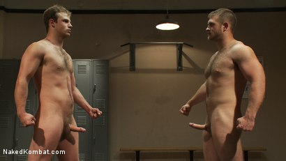 Photo number 15 from Muscled hunks duke it out in the gym, loser takes it in the ass! shot for Naked Kombat on Kink.com. Featuring Paul Wagner and James Gates in hardcore BDSM & Fetish porn.