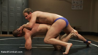 Photo number 3 from Muscled hunks duke it out in the gym, loser takes it in the ass! shot for Naked Kombat on Kink.com. Featuring Paul Wagner and James Gates in hardcore BDSM & Fetish porn.