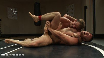 Photo number 11 from Muscled hunks duke it out in the gym, loser takes it in the ass! shot for Naked Kombat on Kink.com. Featuring Paul Wagner and James Gates in hardcore BDSM & Fetish porn.