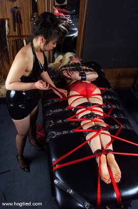 Photo number 12 from Mistress Kira Veritas and Eve shot for Hogtied on Kink.com. Featuring Mistress Kira Veritas and Eve in hardcore BDSM & Fetish porn.