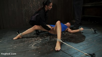 Photo number 5 from Never in the history of Kink has anything like this been attempted!<br>Complete Orgasms destruction! shot for Hogtied on Kink.com. Featuring Rain DeGrey and Isis Love in hardcore BDSM & Fetish porn.