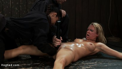 Photo number 8 from When you make someone cum over and over for over 1/2 hour<br> this becomes the face of ecstasy  shot for Hogtied on Kink.com. Featuring Rain DeGrey and Isis Love in hardcore BDSM & Fetish porn.