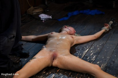 Photo number 15 from The total destruction of RAIN continues. She is mindless, her body keeps cumming<br>YAM RA!! shot for Hogtied on Kink.com. Featuring Rain DeGrey and Isis Love in hardcore BDSM & Fetish porn.