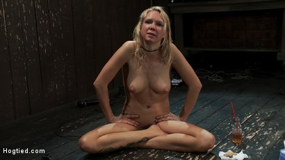Photo number 15 from Rain somehow makes it the entire hour. She suffers her final orgasm of the day<br>Aftercare is next shot for Hogtied on Kink.com. Featuring Rain DeGrey and Isis Love in hardcore BDSM & Fetish porn.