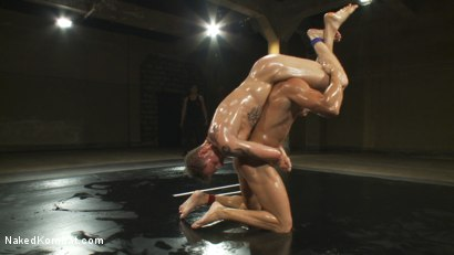 Photo number 6 from Trent Diesel vs Ryan Rockford <br> The Oil Match shot for Naked Kombat on Kink.com. Featuring Ryan Rockford and Trent Diesel in hardcore BDSM & Fetish porn.