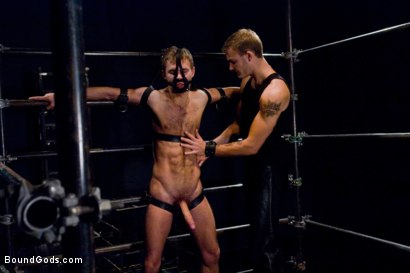 Photo number 2 from Bar Bondage Hookup 2 shot for Bound Gods on Kink.com. Featuring Zach Alexander and Christian Wilde in hardcore BDSM & Fetish porn.