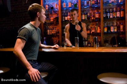 Photo number 1 from Bar Bondage Hookup 2 shot for Bound Gods on Kink.com. Featuring Zach Alexander and Christian Wilde in hardcore BDSM & Fetish porn.